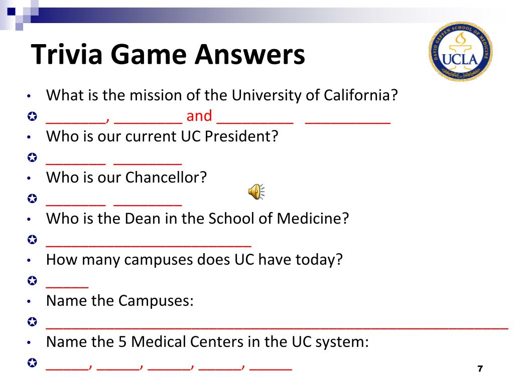 PPT - UCLA Health Sciences Overview PowerPoint Presentation