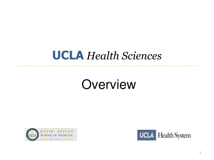 ucla health sciences overview n.