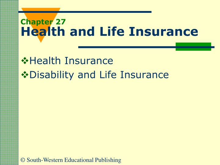 chapter 27 health and life insurance n.