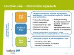 conditioncare intervention approach