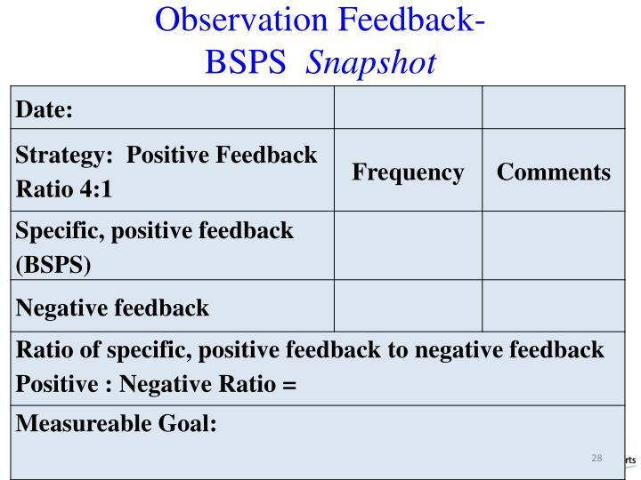Observation Feedback-