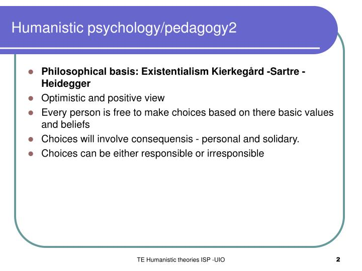 Humanistic psychology/pedagogy