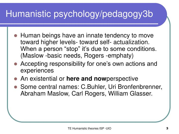 Humanistic psychology pedagogy 3 b