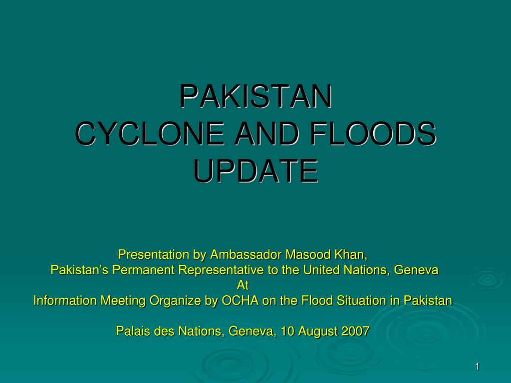 pakistan cyclone and floods update l.