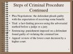 steps of criminal procedure continued9