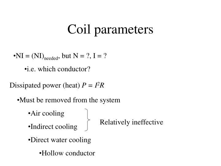 Coil parameters