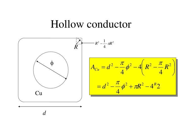 Hollow conductor