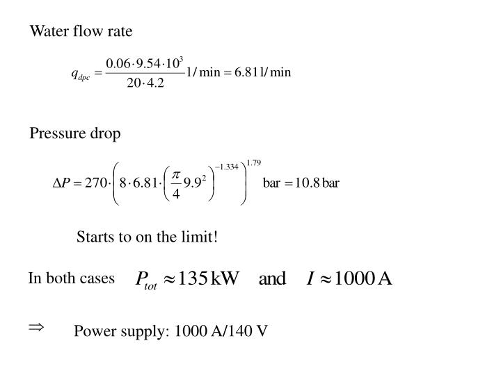 Water flow rate