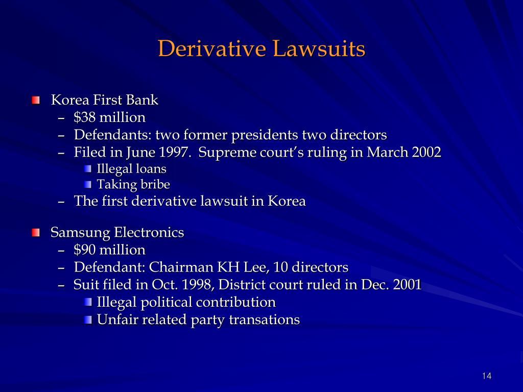 Derivative Lawsuits