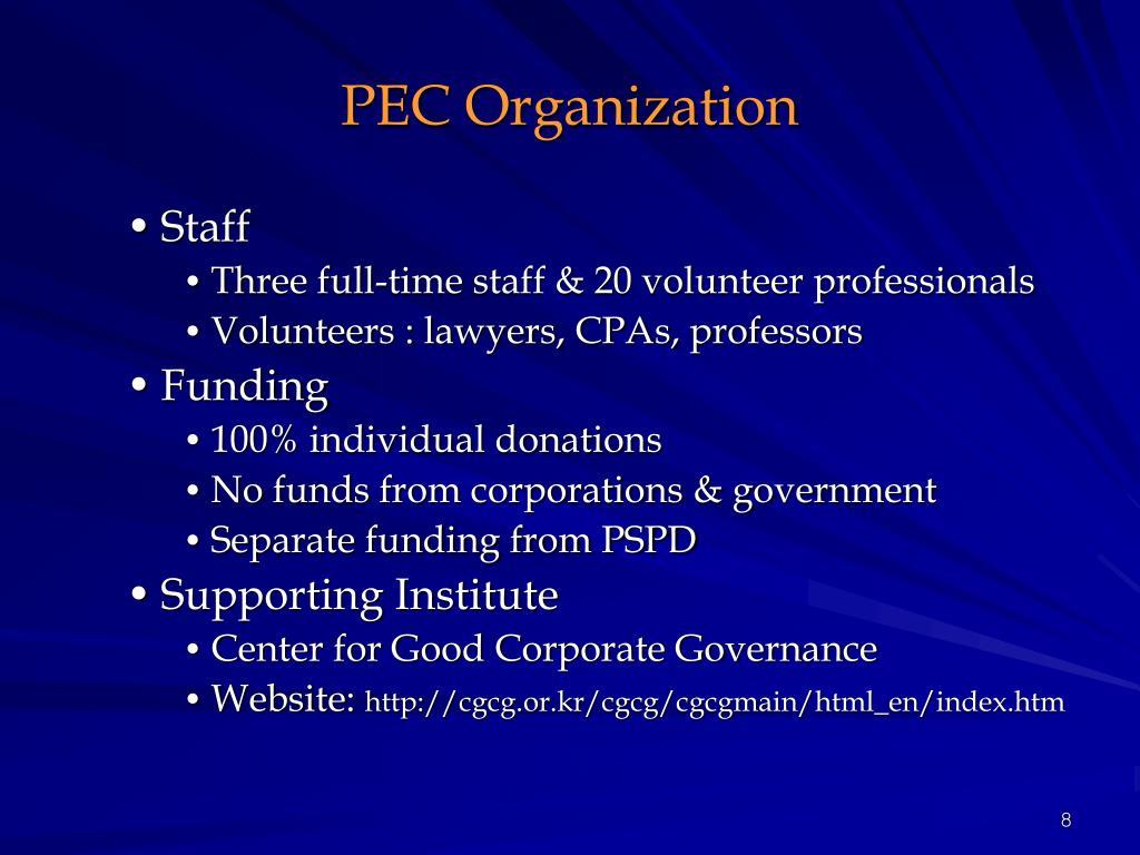 PEC Organization