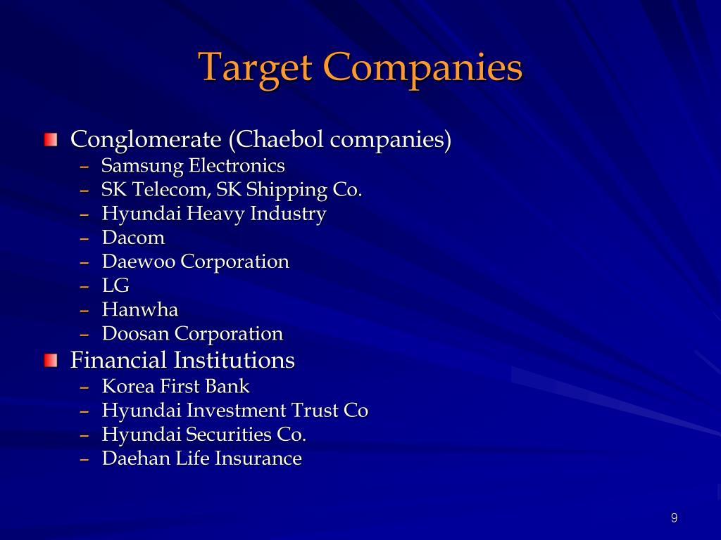 Target Companies
