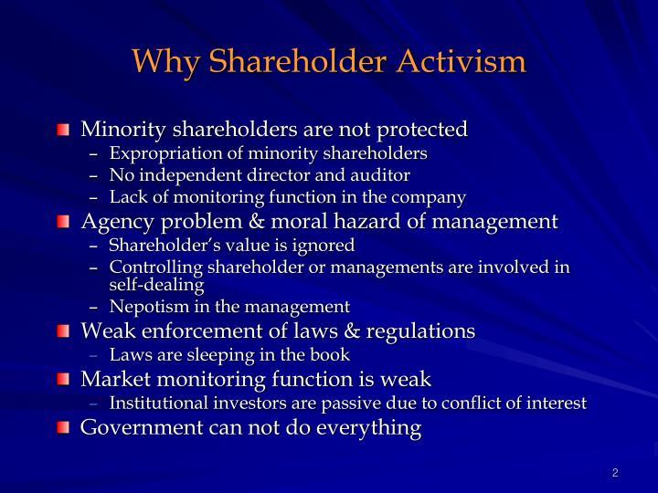 Why shareholder activism