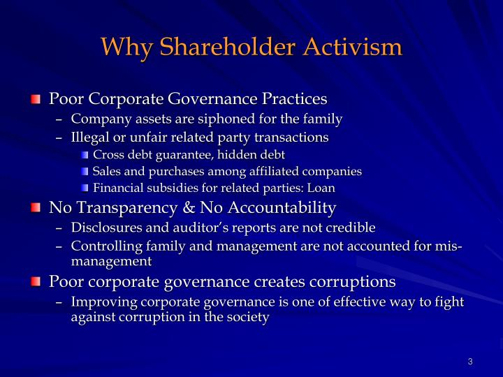 Why shareholder activism3