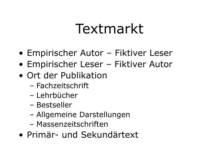 Textmarkt