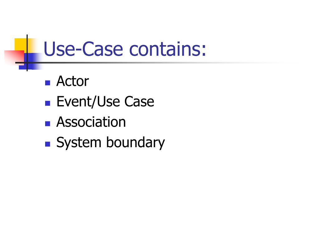Use-Case contains: