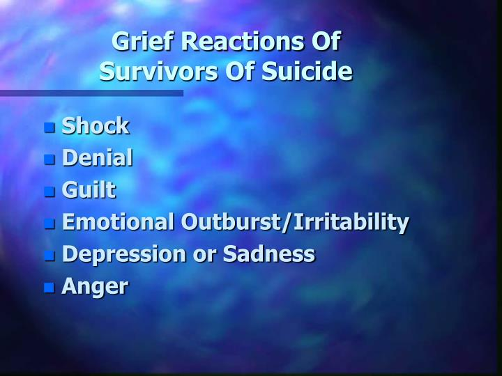 Grief Reactions Of