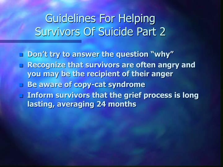 Guidelines For Helping