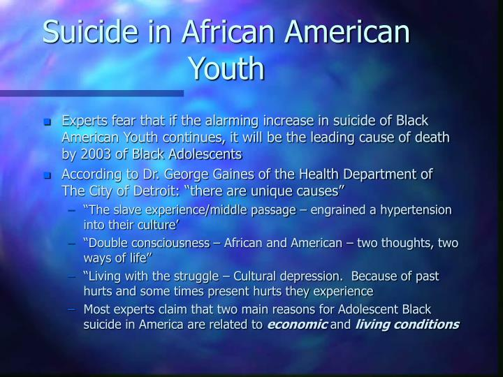 Suicide in African American Youth