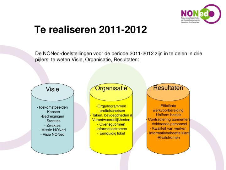 Te realiseren 2011-2012