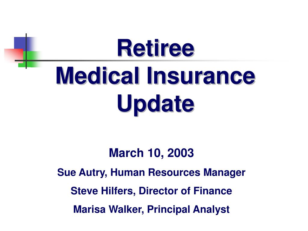 retiree medical insurance update l.