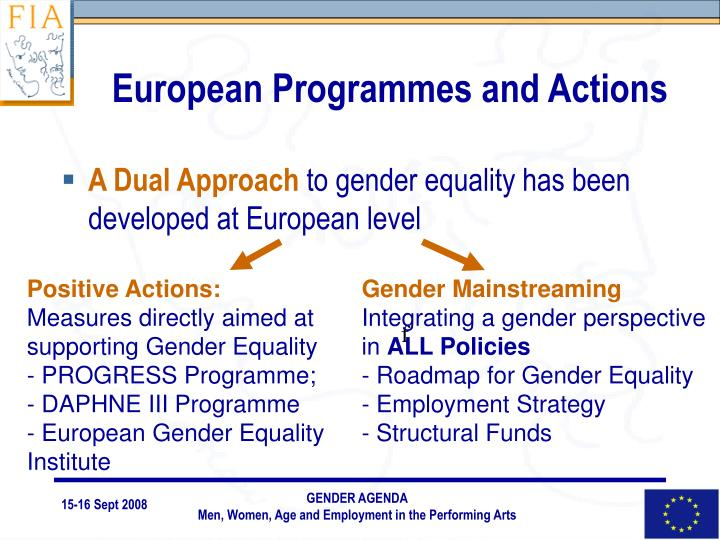 European Programmes and Actions