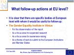 what follow up actions at eu level