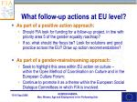 what follow up actions at eu level2