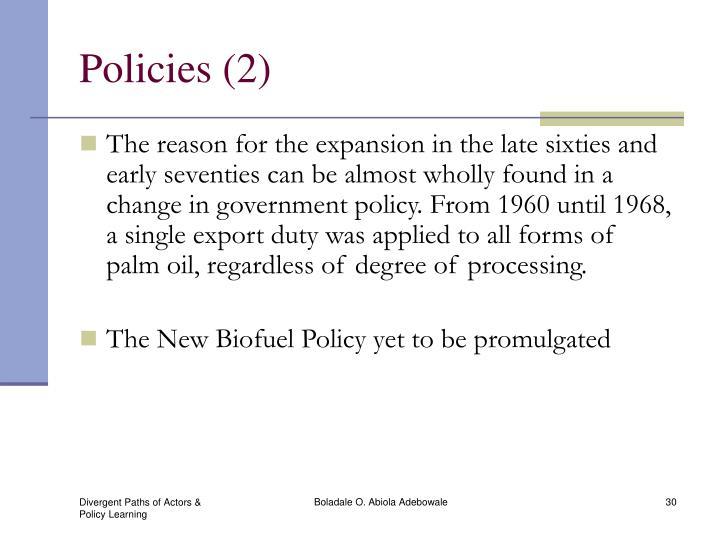 Policies (2)