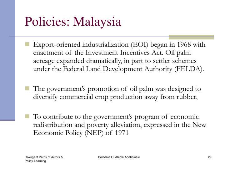 Policies: Malaysia