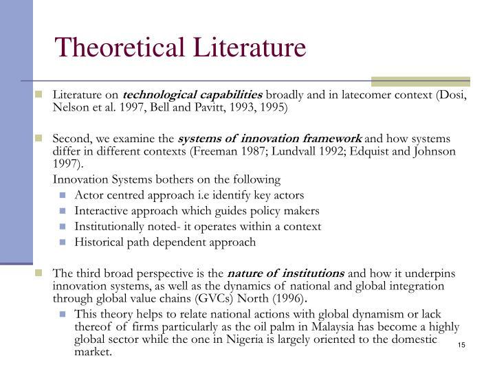 Theoretical Literature