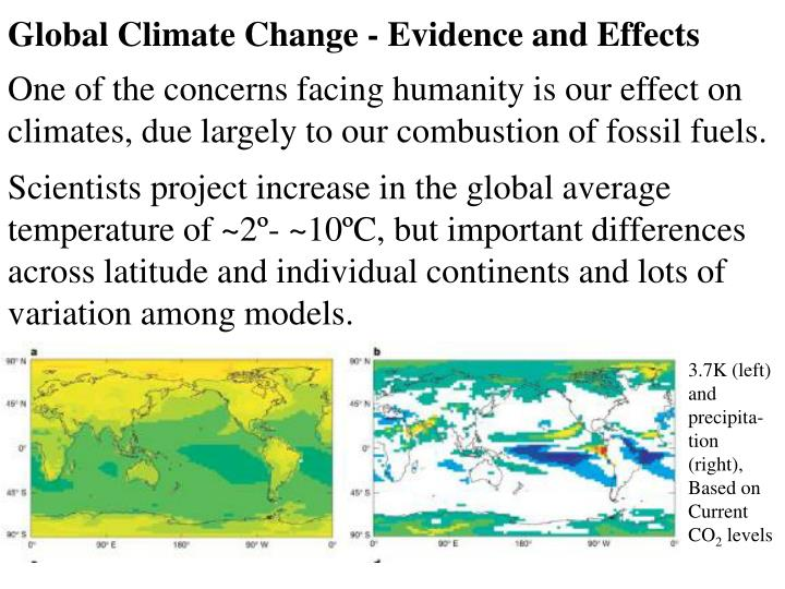 Global Climate Change - Evidence and Effects