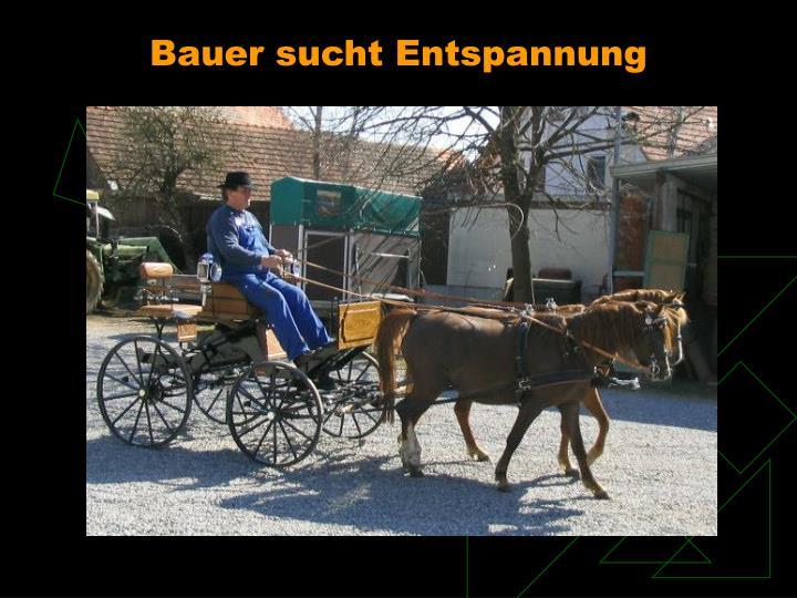 Bauer sucht Entspannung