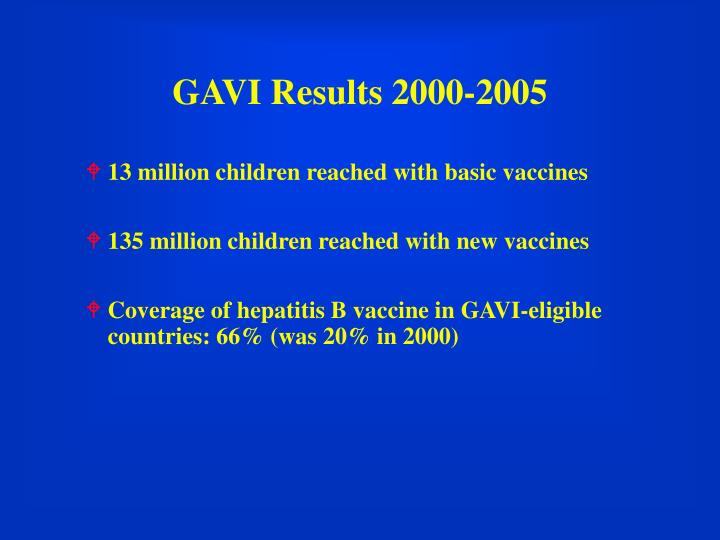 GAVI Results 2000-2005