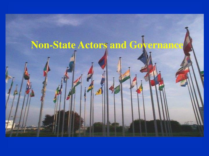 non state actors and governance n.
