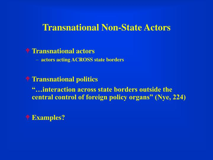 Transnational non state actors