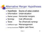 alternative merger hypotheses