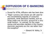 diffusion of e banking