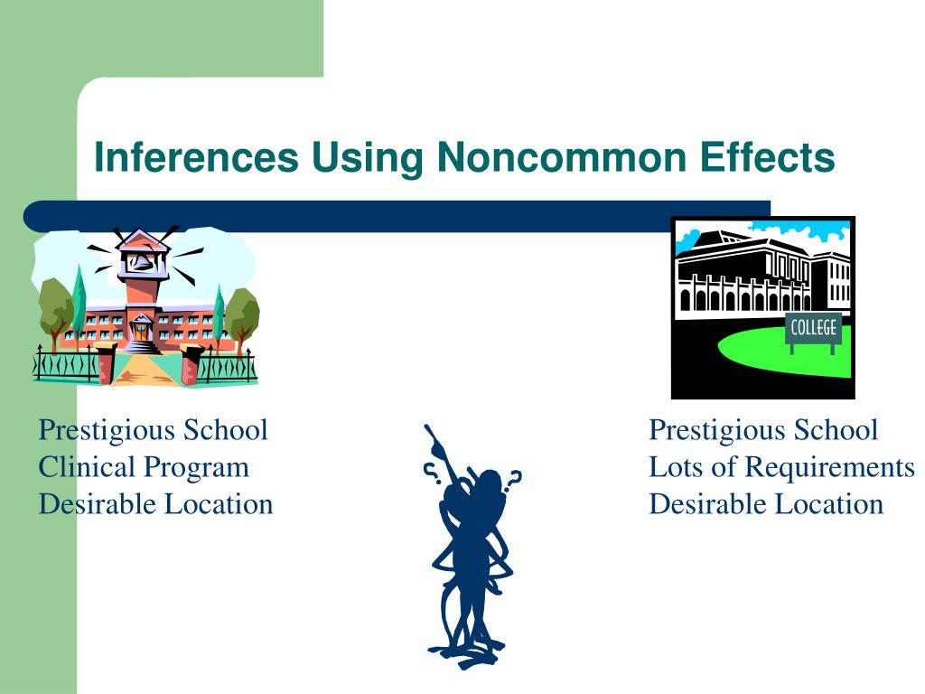 Inferences Using Noncommon Effects