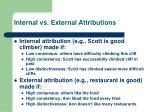 internal vs external attributions