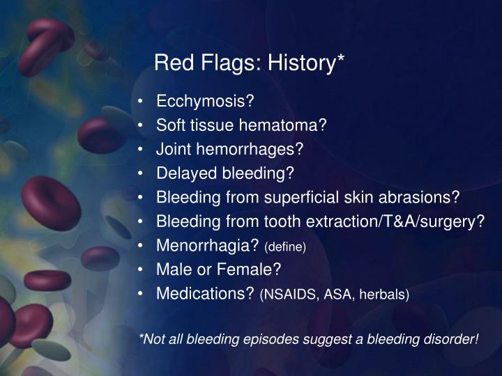 Red Flags: History*