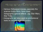 holography in entertainment