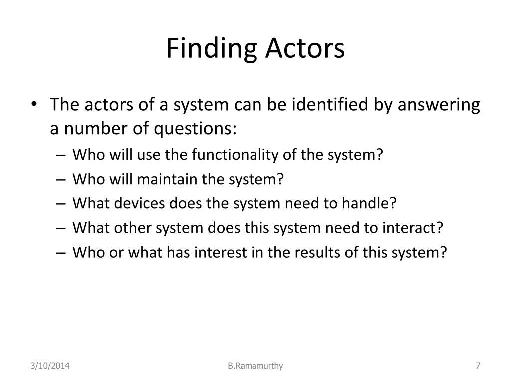 Finding Actors