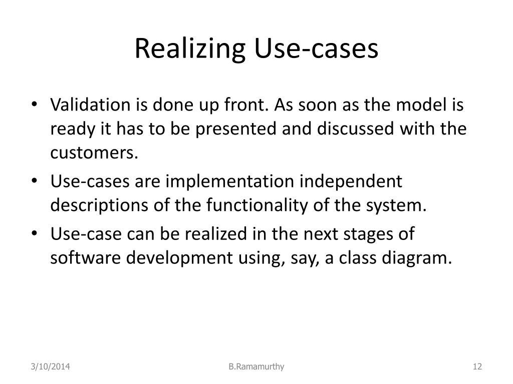 Realizing Use-cases