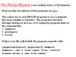 the phylip manual