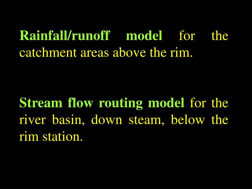 Rainfall/runoff model