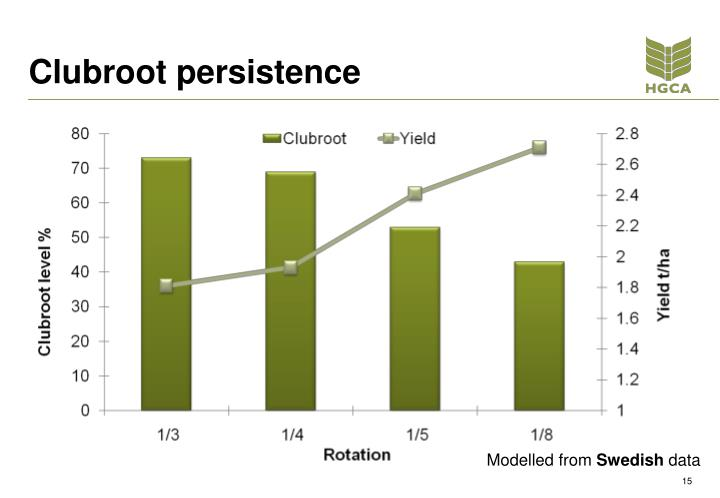 Clubroot persistence