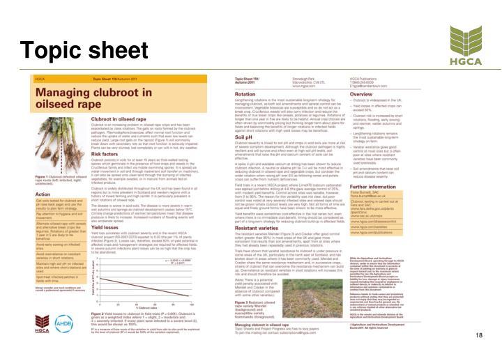 Topic sheet