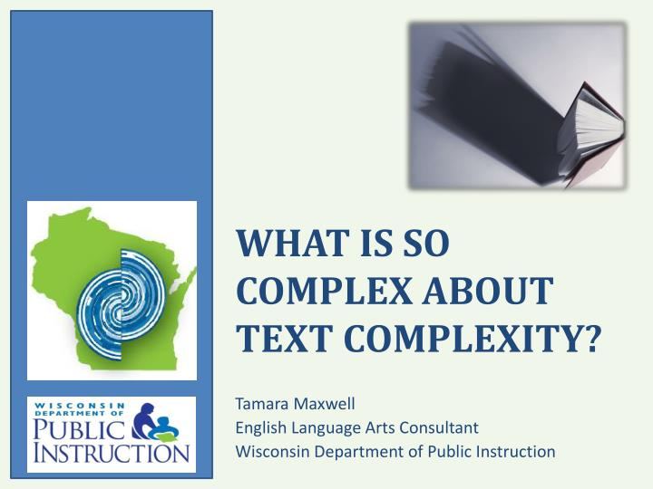 what is so complex about text complexity n.