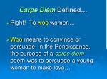 carpe diem defined1