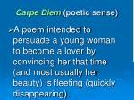 carpe diem poetic sense